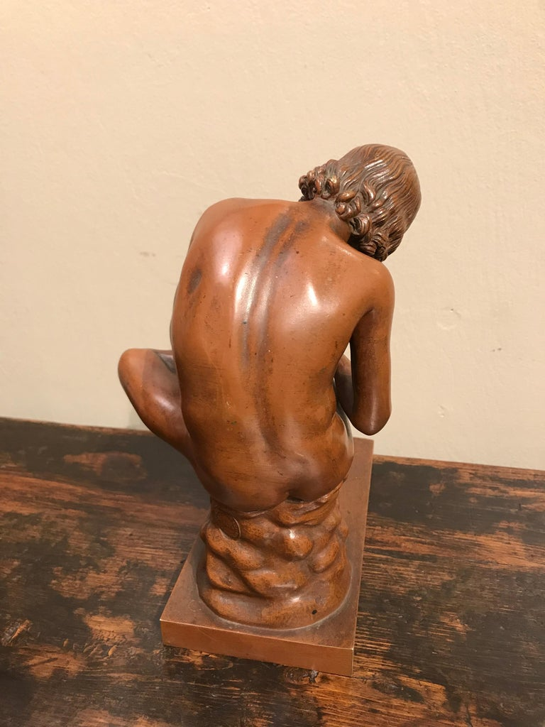 Grand Tour Bronze of Spinario, After the Ancient Roman Original For Sale 6