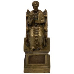 Grand Tour Bronze of St. Peter after Arnolfo di Cambio