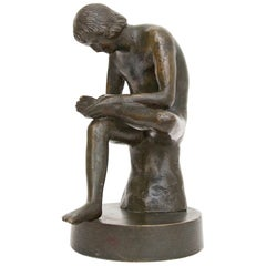 Grand Tour Bronze Sculpture Boy with Thorn or Lo Spinario