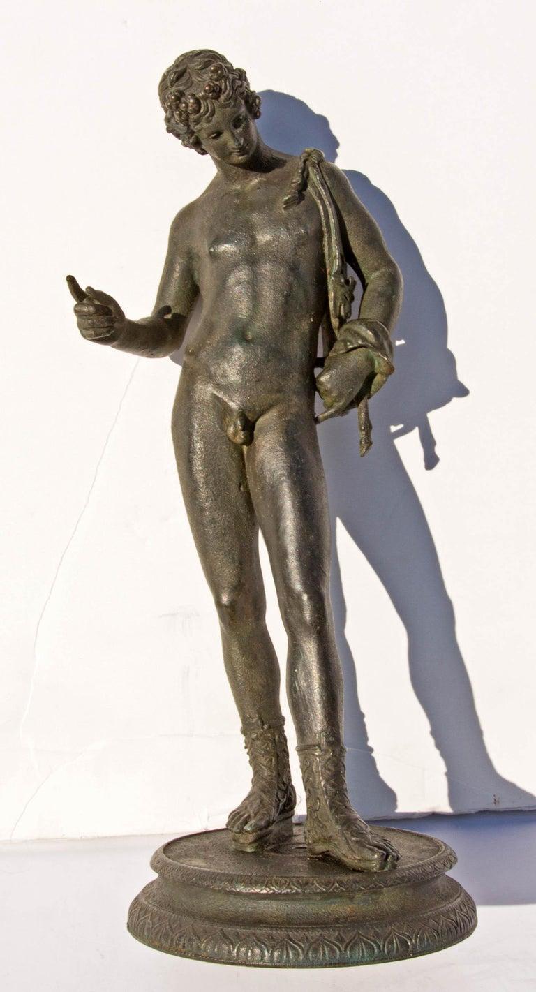 Italian Grand Tour Bronze Sculpture of Narcissus For Sale