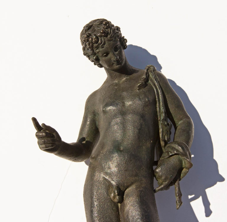 Grand Tour Bronze Sculpture of Narcissus In Good Condition For Sale In Rochester, NY