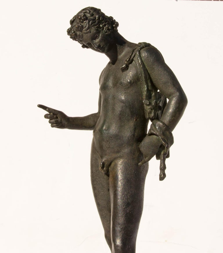 Grand Tour Bronze Sculpture of Narcissus For Sale 1