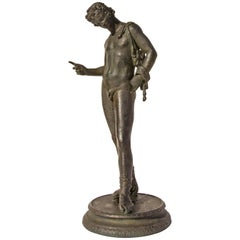 Grand Tour Bronze Sculpture of Narcissus