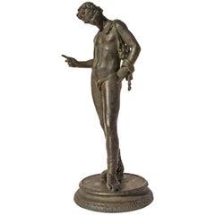 Grand Tour Bronze Sculpture of Narcissus