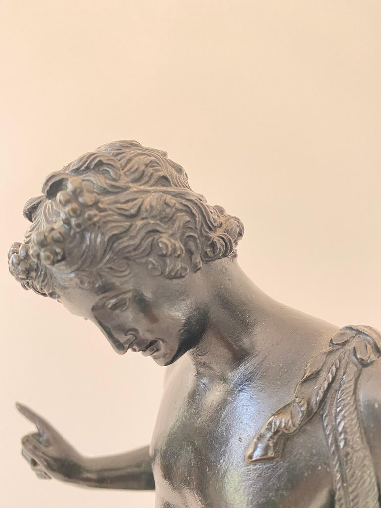 Grand Tour Bronze Statue of Narcissus For Sale 3