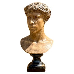 Grand Tour Bust of Man Signed Antide Pechine 1880