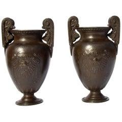 Grand Tour Classical Miniature Urns a Pair