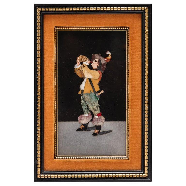 Grand Tour Florentine Pietra Dura Panel For Sale