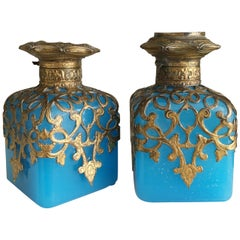 Grand Tour French Opaline Perfume Bottles, circa 1860