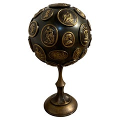 Grand Tour Gilt and Patinated Bronze Orb with Intaglios