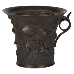 Grand Tour Italian Bronze Vase with Trailing Vines, 19th Century