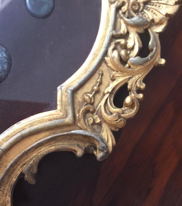 Grand Tour Italian Marble Specimen Pietra Dura Gilt Framed Panel, 19th Century For Sale 6