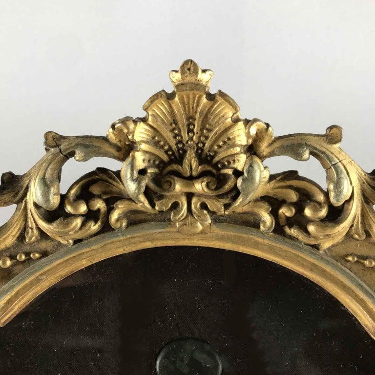 European Grand Tour Italian Marble Specimen Pietra Dura Gilt Framed Panel, 19th Century For Sale