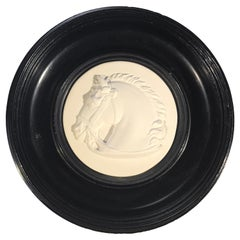 Grand Tour Italy Souvenir, Plaster Stallion Bas-Relief Medallion