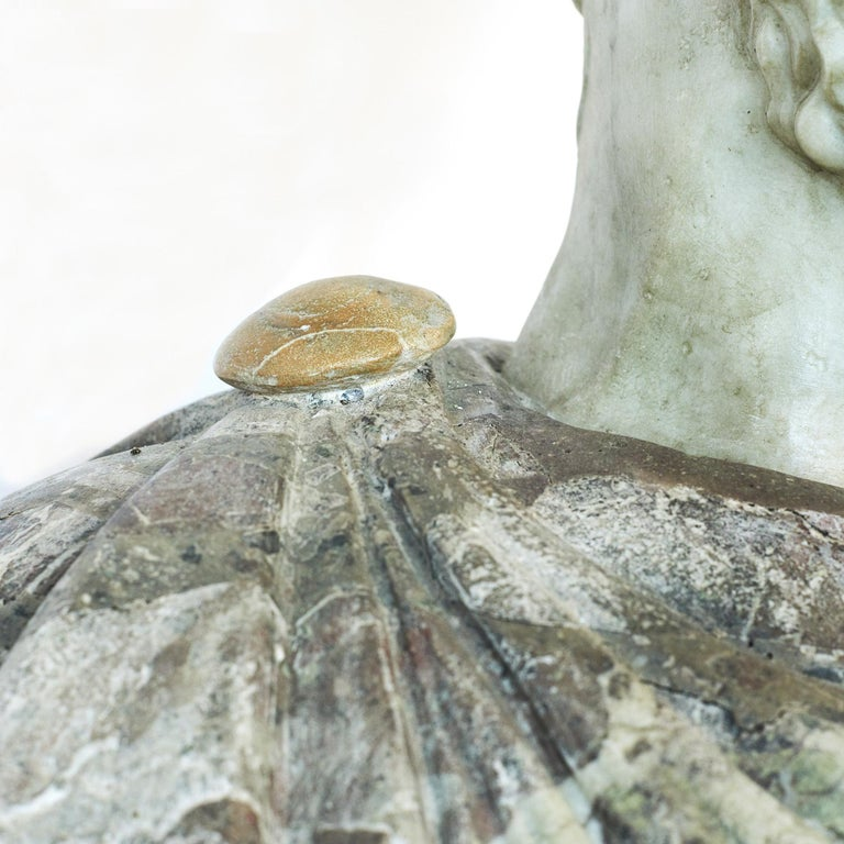 Carrara Marble Grand Tour Marble Bust of Emperor Hadrian For Sale