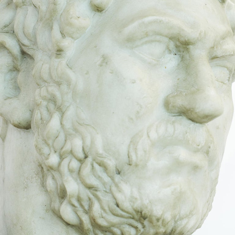 Grand Tour Marble Bust of Emperor Hadrian For Sale 1