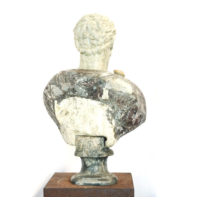 Grand Tour Marble Bust of Emperor Hadrian For Sale 2
