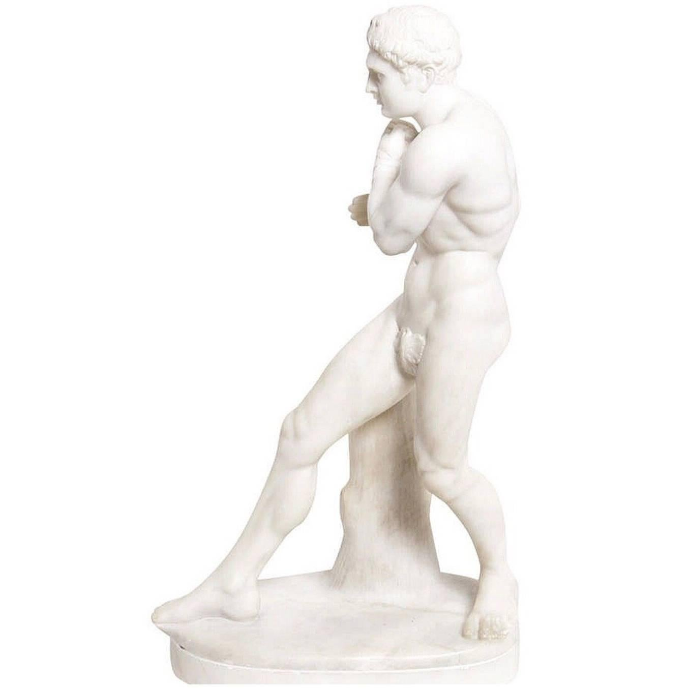 Grand Tour Marble Reduction of Canova's Damoxenos the Boxer, 19th Century