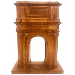 Grand Tour Model of a Boxwood Triumphal Arch, Italian, 19th Century