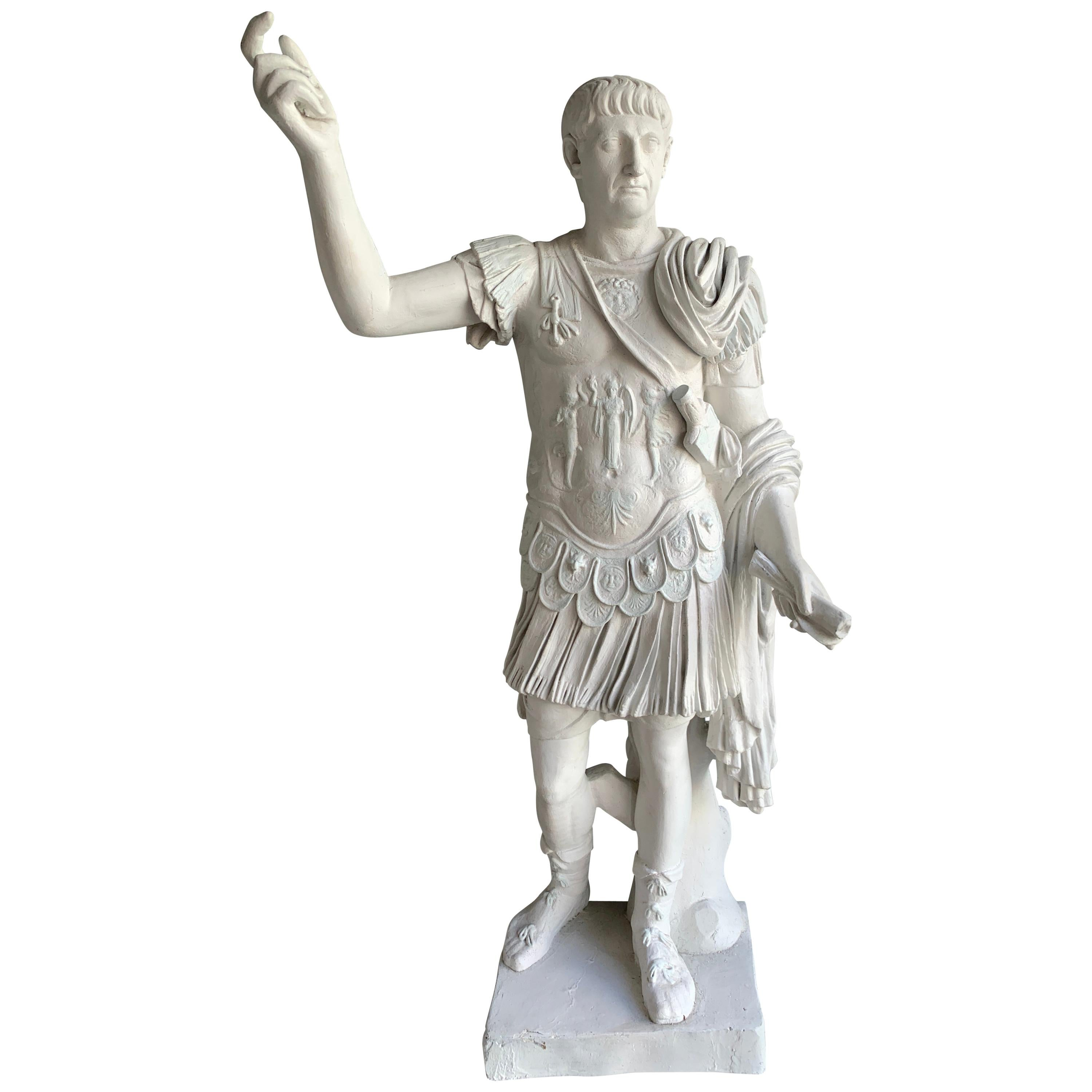 Grand Tour Monumental Statue of Emperor Trajan Statue after Andremichel
