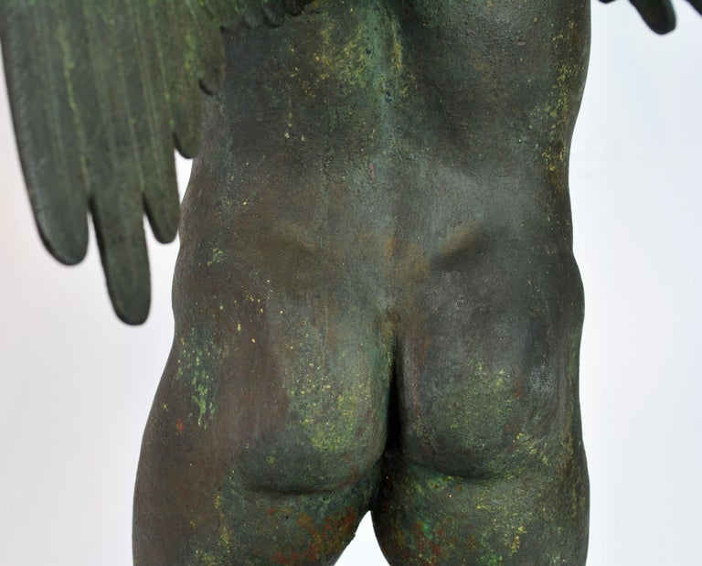 Grand Tour Neapolitan Bronze Fountainhead of the 'Amore Con Delfino' For Sale 8