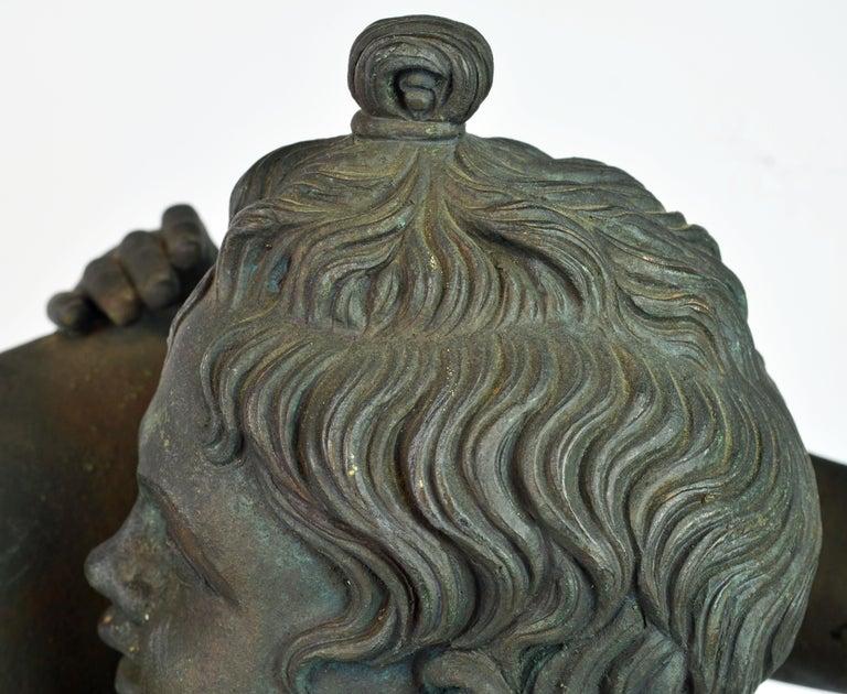 Grand Tour Neapolitan Bronze Fountainhead of the 'Amore Con Delfino' For Sale 10