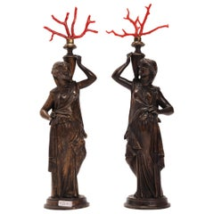 Grand Tour Neoclassical Pair of Bronze Sculptures, Italy, 1850