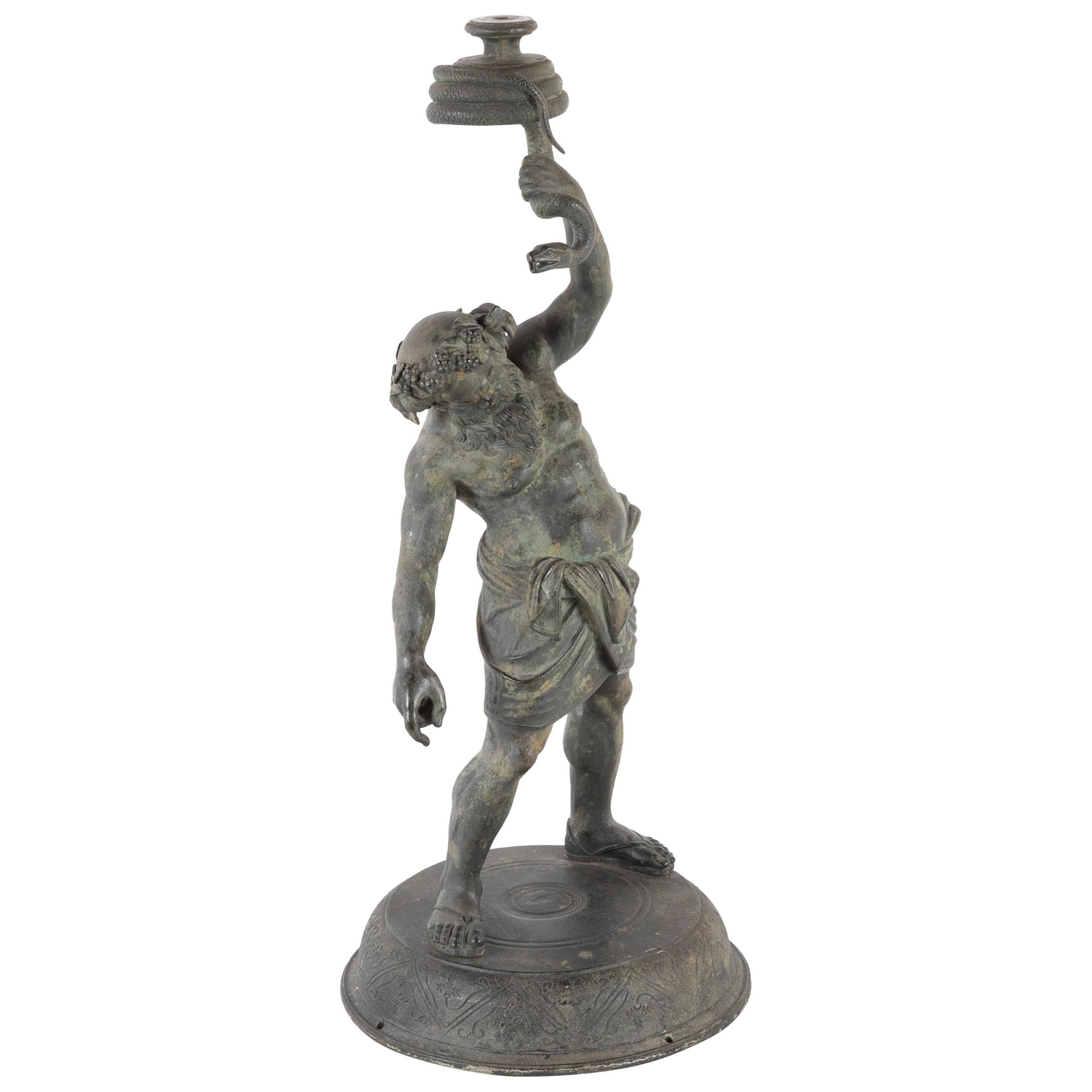 Grand Tour Pompeii Bronze of Silenus, Greek God of Wine