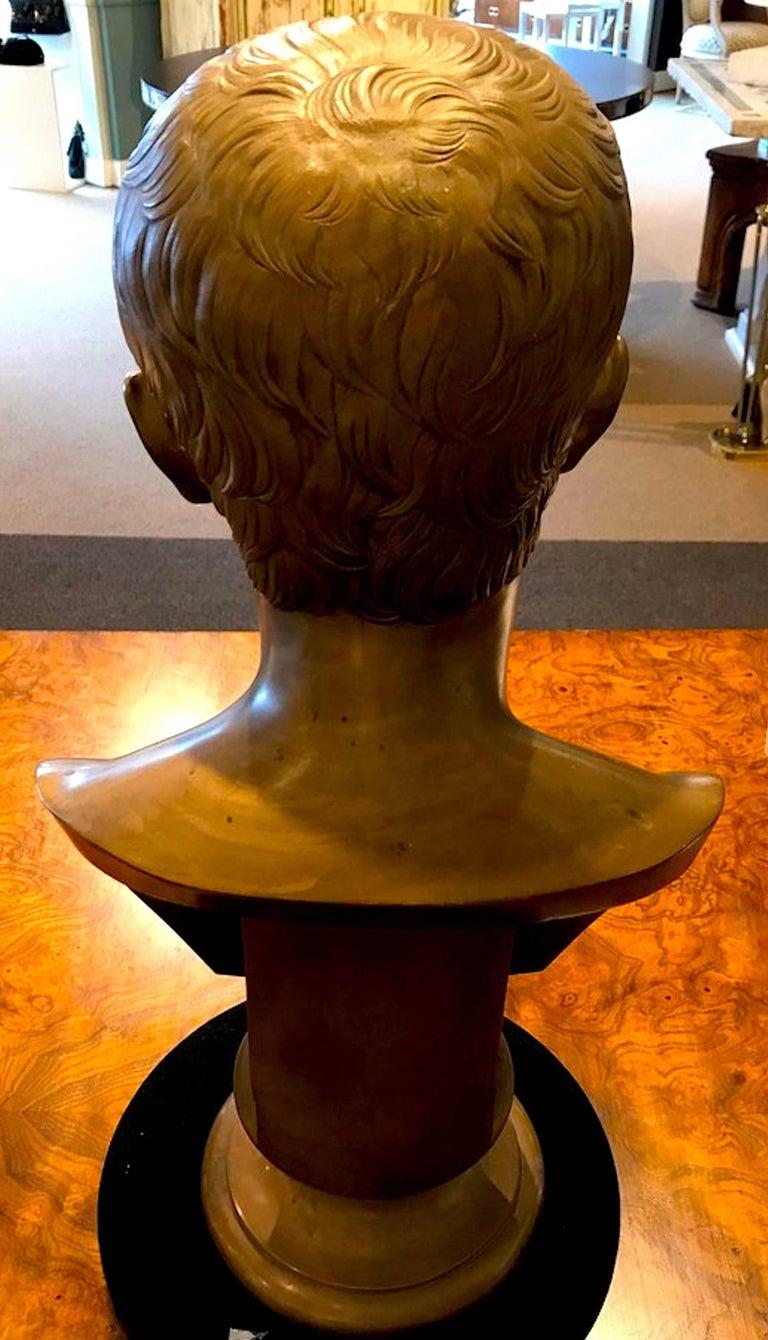 Grand Tour Portrait Bust of Bust of Caesar Augustus, Benedetto Boschetti, Roma In Good Condition In Atlanta, GA