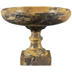 Grand Tour Siena Brocatelle Marmor-Tazza, Regency, 19. Jahrhundert