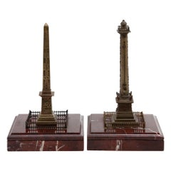 Grand Tour Souvenirs Models of the Vendôme Column and the Luxor Obelisk