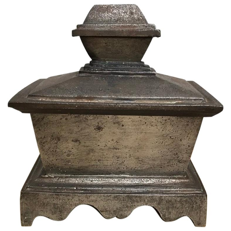 Grand Tour Steel Sarcophagus Form Box
