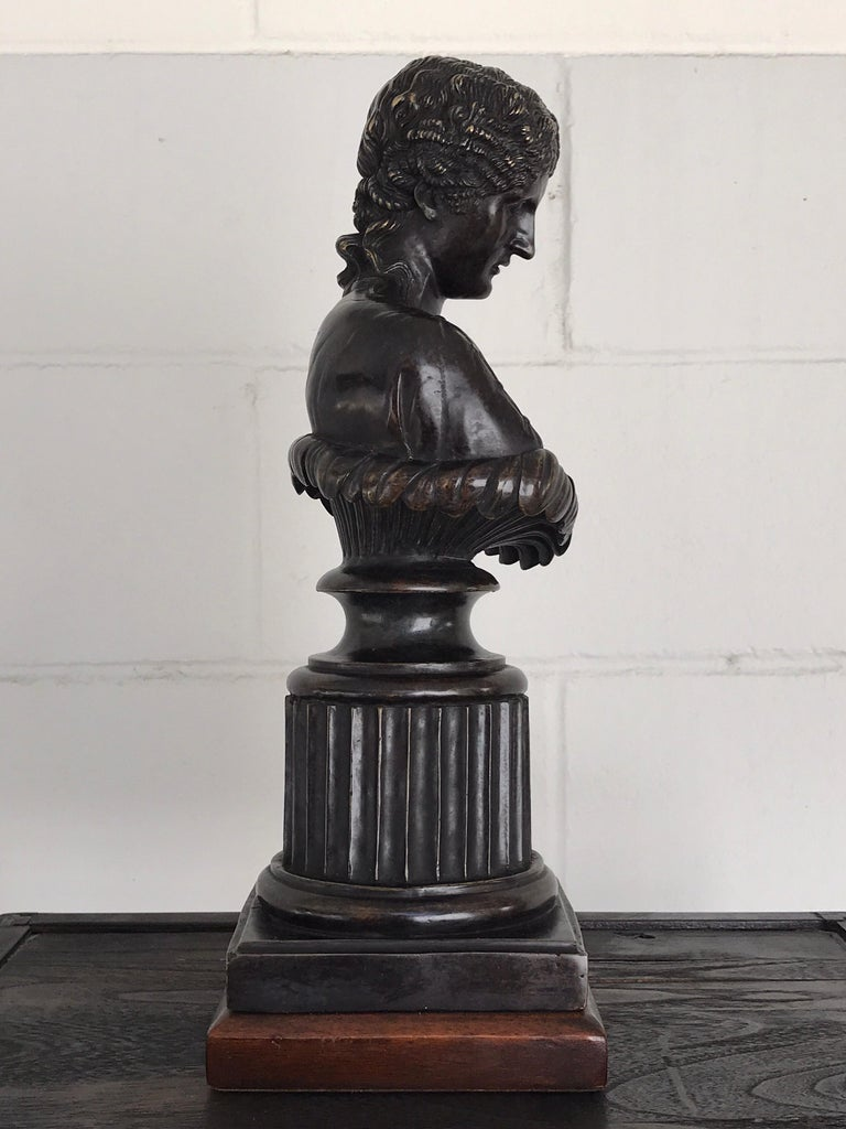 Grand Tour Style Bronze Bust of Clytie For Sale 4