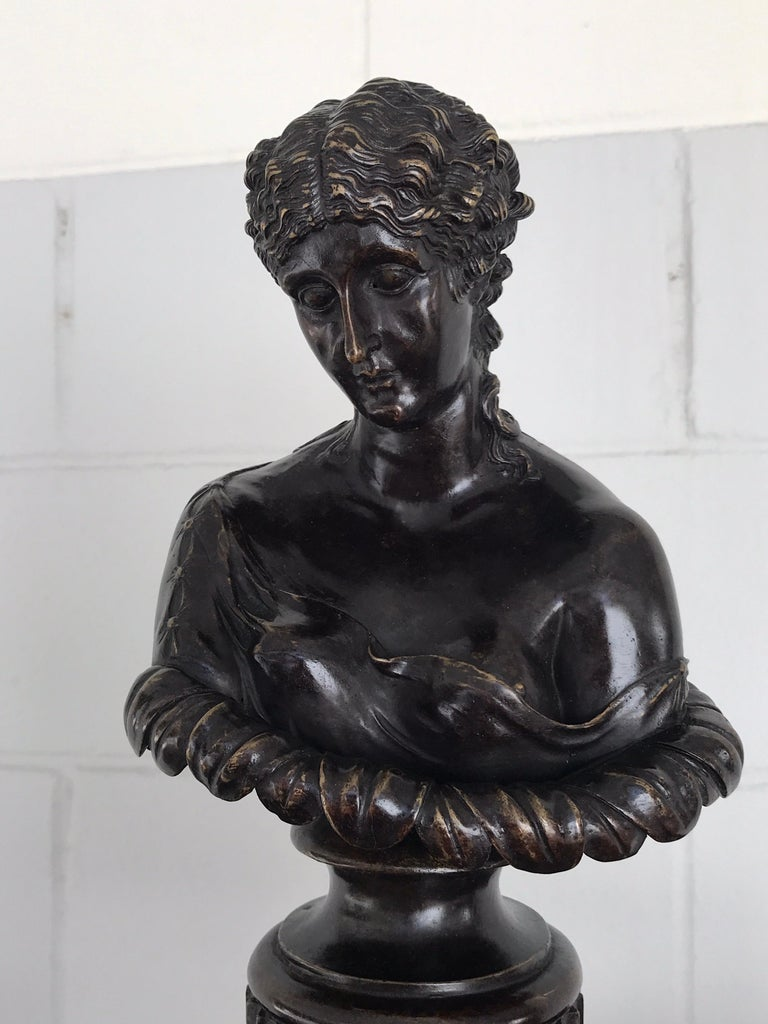 French Grand Tour Style Bronze Bust of Clytie For Sale