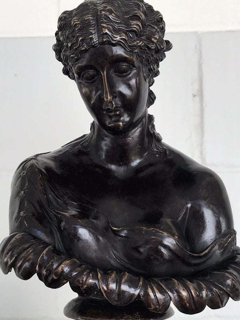 Cast Grand Tour Style Bronze Bust of Clytie For Sale