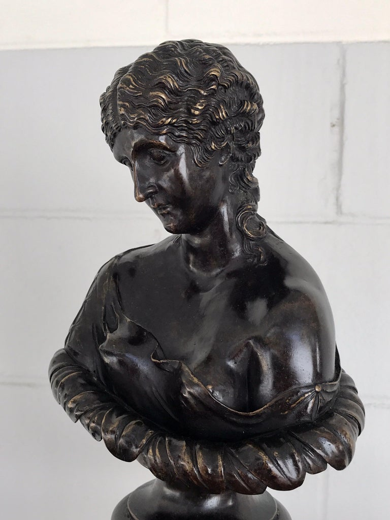 20th Century Grand Tour Style Bronze Bust of Clytie For Sale