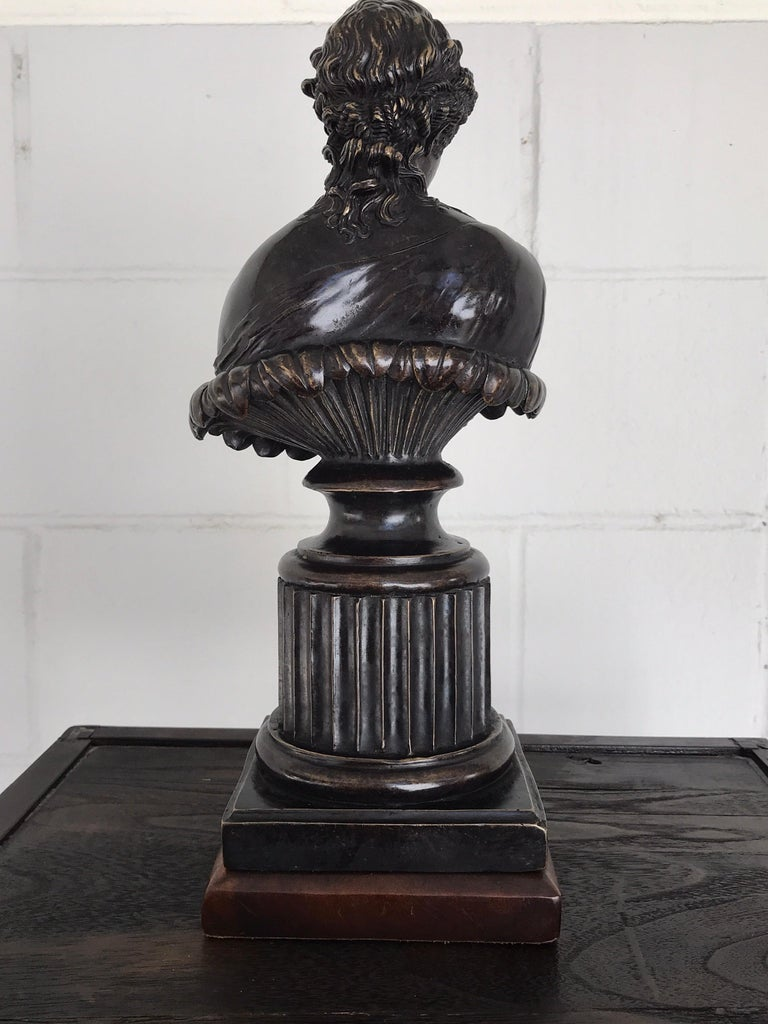 Grand Tour Style Bronze Bust of Clytie For Sale 2