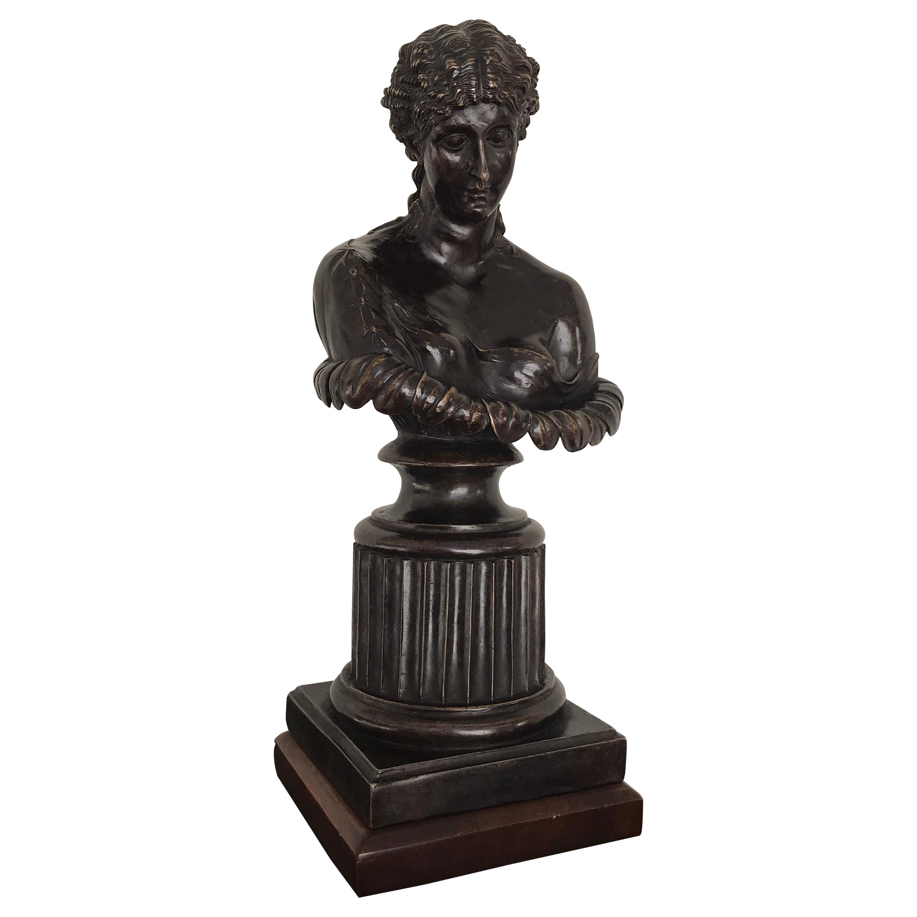 Grand Tour Style Bronze Bust of Clytie