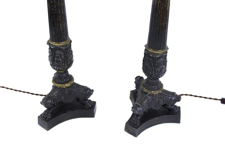 European Grand Tour Style Candelabra Table Lamps For Sale