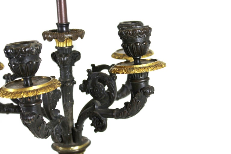 Grand Tour Style Candelabra Table Lamps In Good Condition For Sale In New York, NY