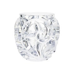 Grand Tourbillons Vase in Crystal Glass by Lalique