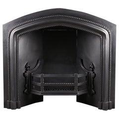 Grand Victorian Neo Gothic Fireplace Register Grate Insert, circa 1850