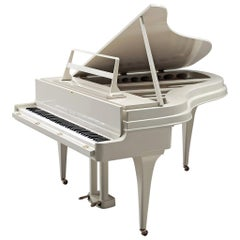 Grand White Aluminum Piano by Rippen, 1950s