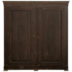 Grande 18th Century Italian Faux Grain Painted Cabinet