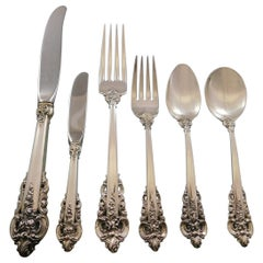 Grande Baroque by Wallace Sterling Silver Flatware Set 12 Service 76 Pcs Dinner