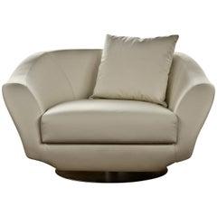 Grande Beige Swivel Armchair by Bosco Fair