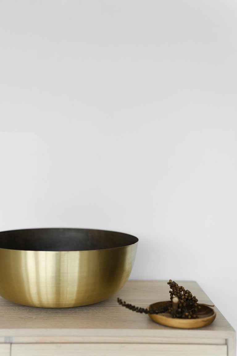 Spun Grande Brass Centerpiece, Shallow, in Stock For Sale