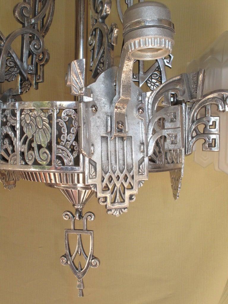 Grande Dame of American Art Deco Lighting, circa 1932 For Sale 4