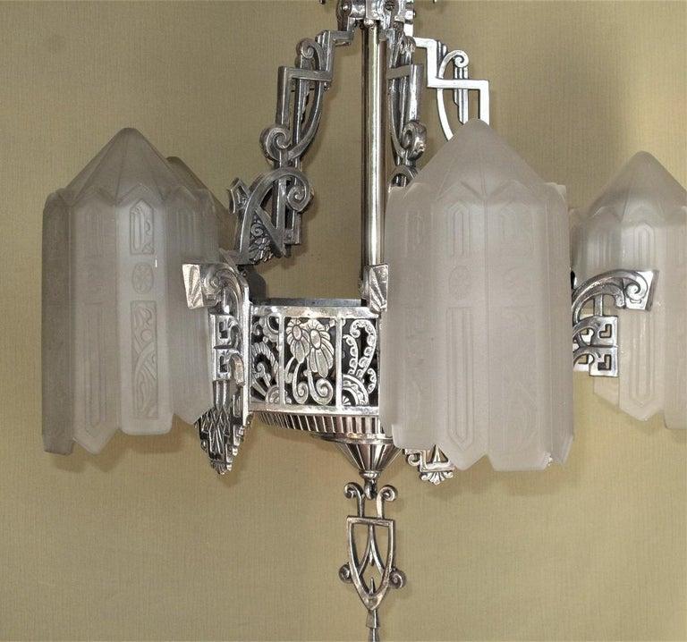 Grande Dame of American Art Deco Lighting, circa 1932 For Sale 6