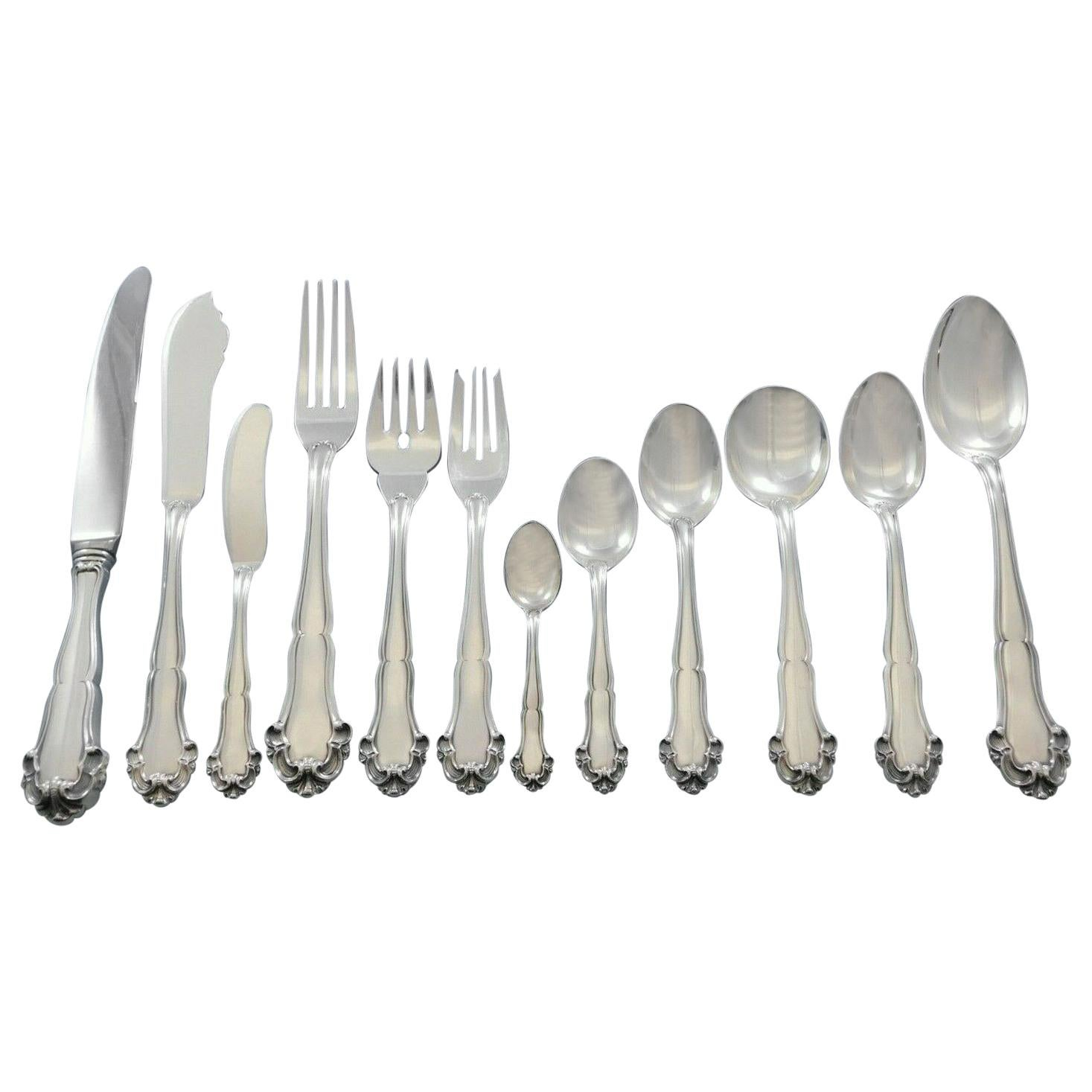 Grande Imperiale by Buccellati Italy Sterling Silver Flatware Set Service 145 Pc